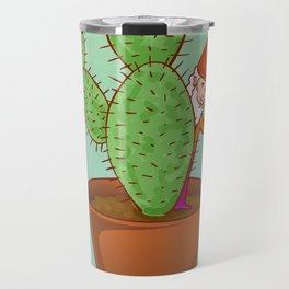 fairytale dwarf with cactus Travel Mug