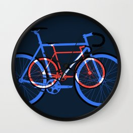 Fixed Gear Road Bikes – Blue, Purple and Red Wall Clock