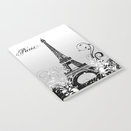 Eiffel Tower Paris (B/W) Notebook