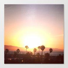 Sunrise & Palms Canvas Print