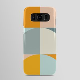 Summer Evening Geometric Shapes in Soft Blue and Orange Android Case