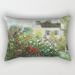 The Artist's Garden in Argenteuil - Copy from Monet Rectangular Pillow