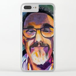 Portrait of the Artist Smirking Clear iPhone Case