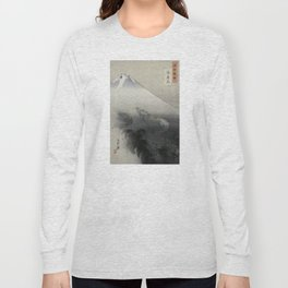 Dragon Rising to the Heavens at Mount Fuji by Ogata Gekko Long Sleeve T-shirt