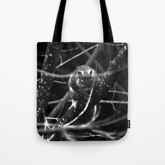 Squirrel in Black and White Tote Bag