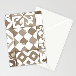 Vintage geometric baige Stationery Cards
