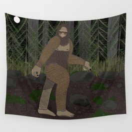 Bigfoot in the Forest Wall Tapestry