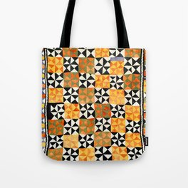 North Afghanistan Cotton Quilt Print Tote Bag