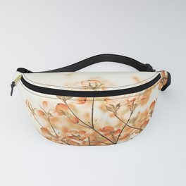 Orange Apricot Peach Coral Salmon Flower Photography, Floral Spring Tree Branches Fanny Pack