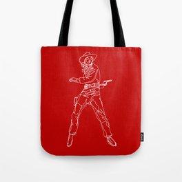 Crimson Cowgirl Tote Bag