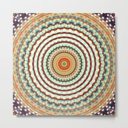 Recreational Maylanta Mandala 3 Metal Print