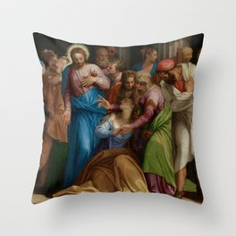"""Veronese (Paolo Caliari) """"The Conversion of Mary Magdalene"""" Throw Pillow"""