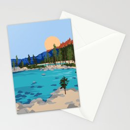 Sand Harbor Lake Tahoe Stationery Cards