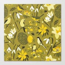 Finally Easter! [mustard] Canvas Print