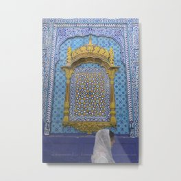 Sachal Sarmast and Pilgrim Metal Print