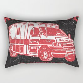 Ambulance Rescue Squad Rectangular Pillow