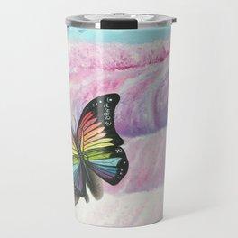 Le papillon de l'amour arc en ciel Travel Mug