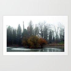 frozen island. Art Print
