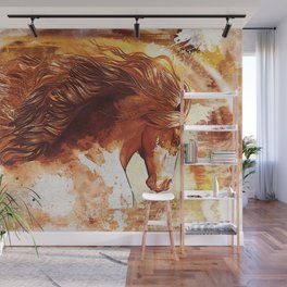 My horhe - with textures Wall Mural