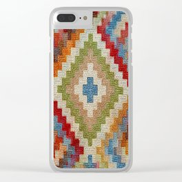kilim rug pattern Clear iPhone Case
