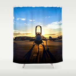 Viper at Sunset Shower Curtain