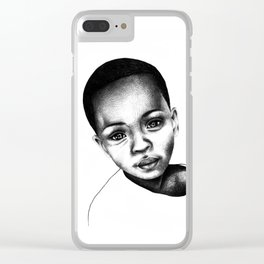 African Child Clear iPhone Case