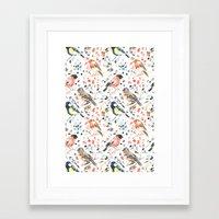 british Framed Art Prints featuring British Birds by Lauren Thomas Designs