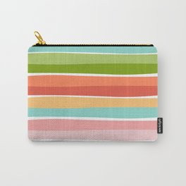 Summer vibrant color stripes kids pillow Carry-All Pouch