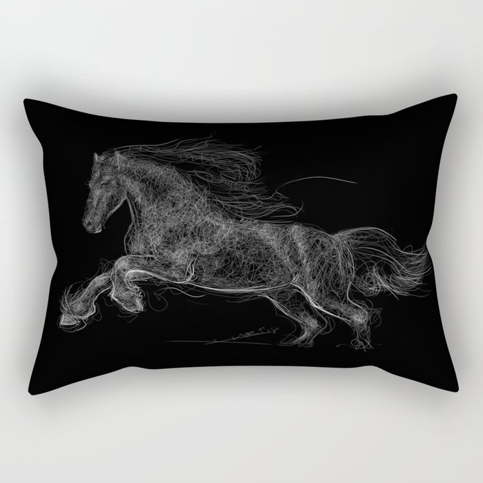 Horse - Gallopping Rectangular Pillow