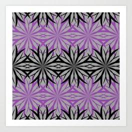 black and purple Art Print