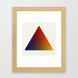 Lichtenberg-Mayer Colour Triangle variation, Remake using Mayers original idea of 12+1 chambers Framed Art Print