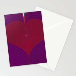 I Heart Lines Stationery Cards