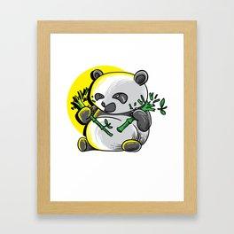 Panda monium Pandamonium shirt angry Kawaii panda Framed Art Print