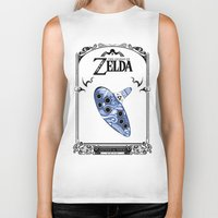 majora Biker Tanks featuring Zelda legend - Ocarina of time by Art & Be