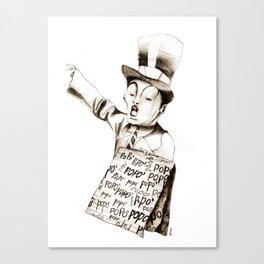 the POPO' paperboy Canvas Print