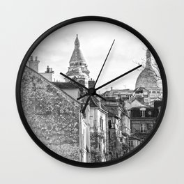 Sacre Coeur view Montmartre Paris Wall Clock