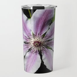 Clematis Nellie Moser Travel Mug