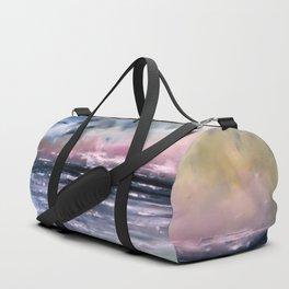 Coucher de soleil sur mer Duffle Bag