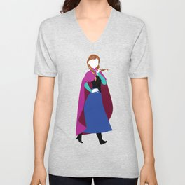 Anna from Frozen - Princesses series Unisex V-Neck
