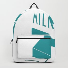 Aesthetic Milk Carton design Gift Vaporwave 80s Otaku Style Backpack