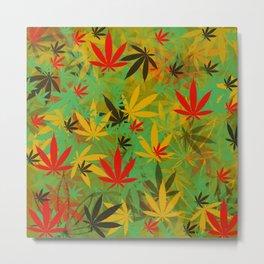 Marijuana Cannabis Weed Pot Metal Print