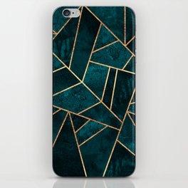 Deep Teal Stone iPhone Skin