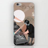 superheroes iPhone & iPod Skins featuring Superheroes SF by Natalie Nicklin