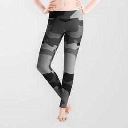 Camouflage Art1 Black and White Leggings