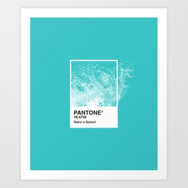 PANTONE SERIES – SPLASH Art Print