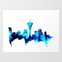 seattle Art Prints featuring Seattle  by Talula Christian