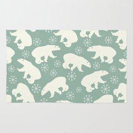 Merry Christmas - Polar bear - Animal pattern Rug