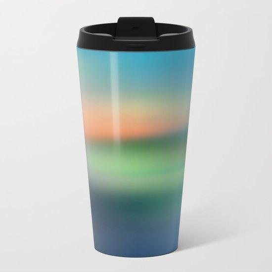 Abstract Seascape Metal Travel Mug