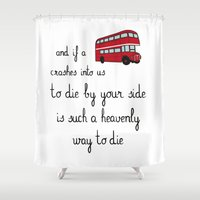 smiths Shower Curtains featuring The Smiths by Whiteland