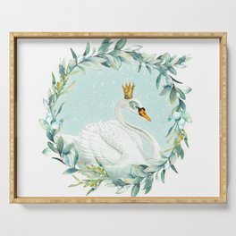 White Swan Serving Tray